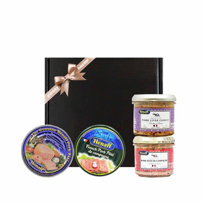 Henaff Assorted French Pork Pate & Confit Gift
