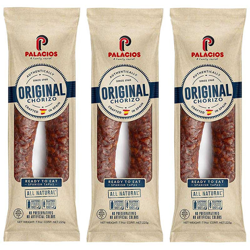 3-Pack Palacios Mild Spanish Ready-to-eat Chorizo (7.9 oz. x 3)