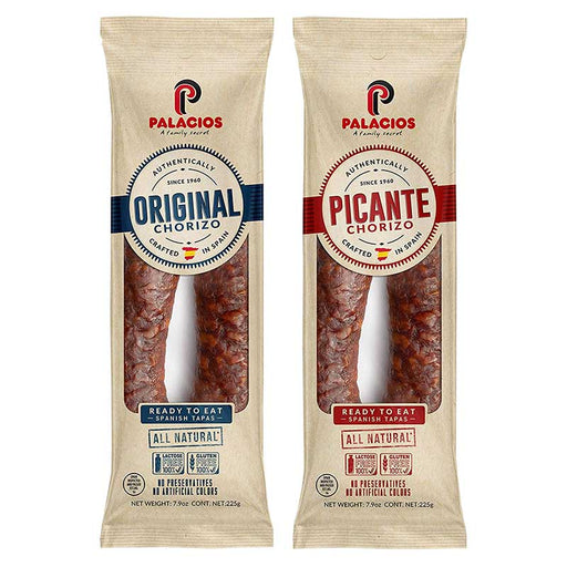 Palacios Mild & Hot Spanish Ready-to-eat Chorizo Set