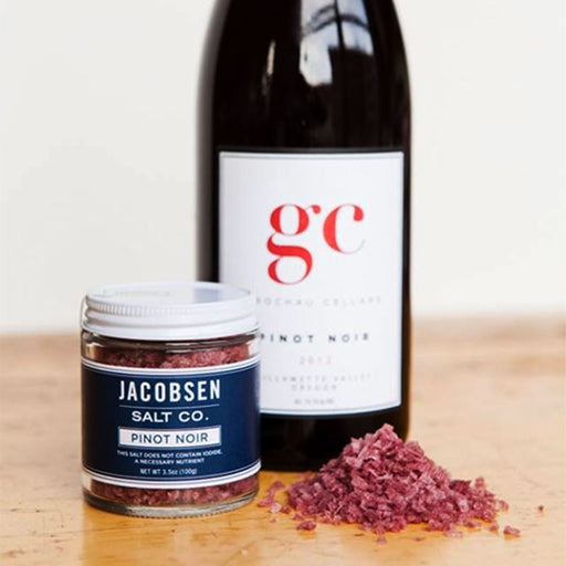 Jacobsen Salt Co Pinot Noir Infused Sea Salt, 3.2 oz.
