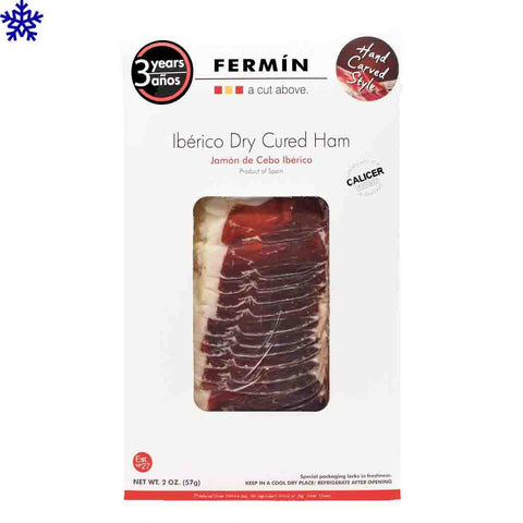Jamon Iberico Dry Cured Sliced Ham by Fermin 2 oz