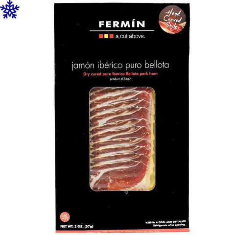Jamon Iberico Puro Bellota Sliced Ham Pack by Fermin 2 oz