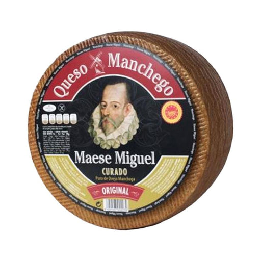 Maese Miguel Manchego Aged Over 6 Months, 6.8 lb (3.12kg)