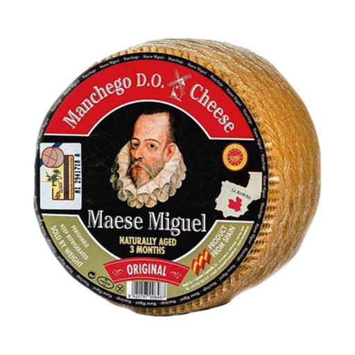 Maese Miguel 2 lb Manchego Mini Cheese Wheel, Aged 3 Months (907g)
