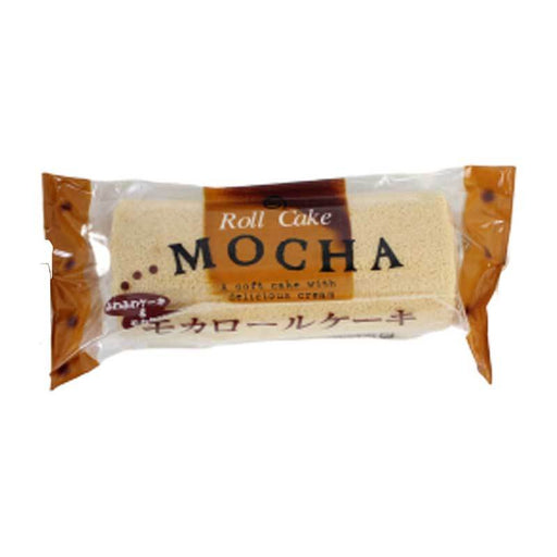Sponge Roll Cake with Mocha Cream, Fresh from Japan, 3.1 oz (90g)