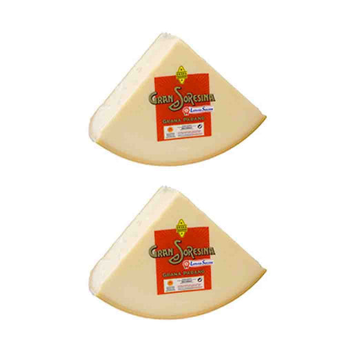 FREE SHIPPING|2 Pack Grana Padano Cheese Wedge Latteria Soresina, 10.56 lbs