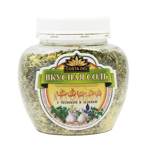 Herb Salt Seasoning with Garlic and Greens by Tasty Salt 14.1 oz