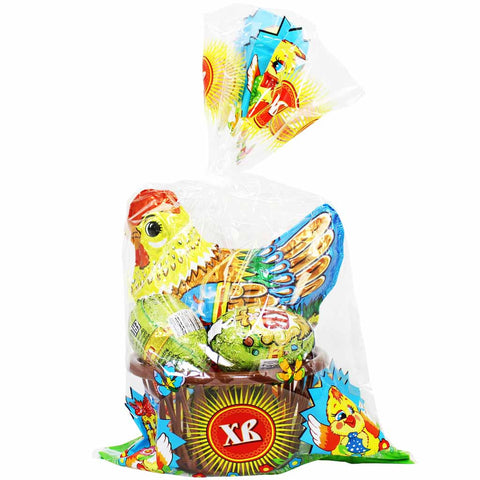 Russian Easter Chocolate Chicken with Eggs by XB 4.2 oz