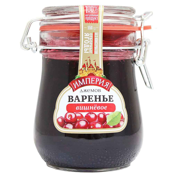 Jam Empire Cherry Jam 19.4 oz. (550 g)