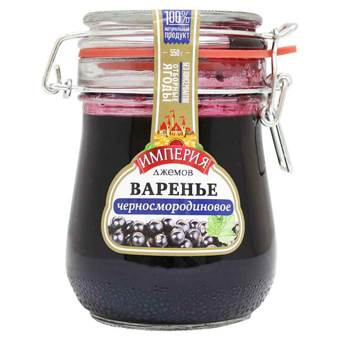 Jam Empire Blackcurrant Jam 19.4 oz. (550 g)