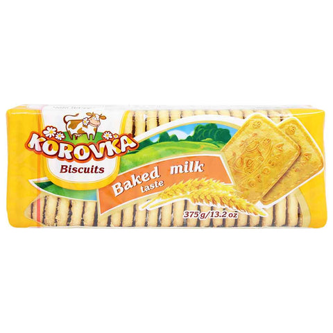 Korovka Unglazed Sugar Biscuits with Baked Milk Flavor 13.2 oz. (375 g)