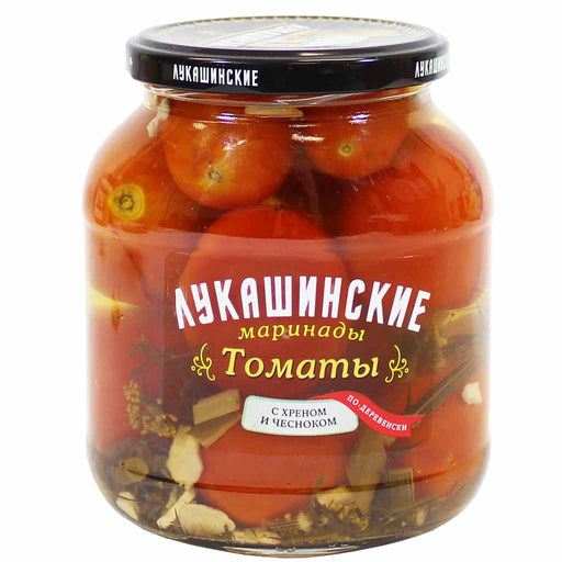 Lukashinskie Garlic & Horseradish Pickled Tomatoes 23.6 oz. (670g)