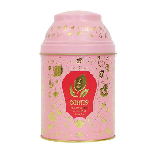 Strawberry and Milk flavored Black Tea in Gift Tin by Curtis, 2.5 oz (70 g)