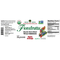 Rigoni di Asiago Fiordifrutta Organic Fruit Spread Wild Berries 8.8 oz. (250g)