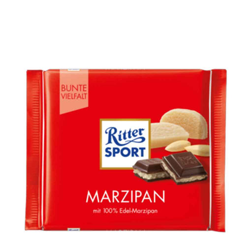 Ritter Sport Dark Chocolate with Marzipan, 3.5 oz (100 g)
