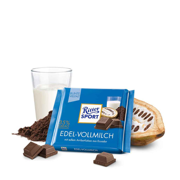 Ritter Sport 35% Milk Chocolate, 3.5 oz (100 g)