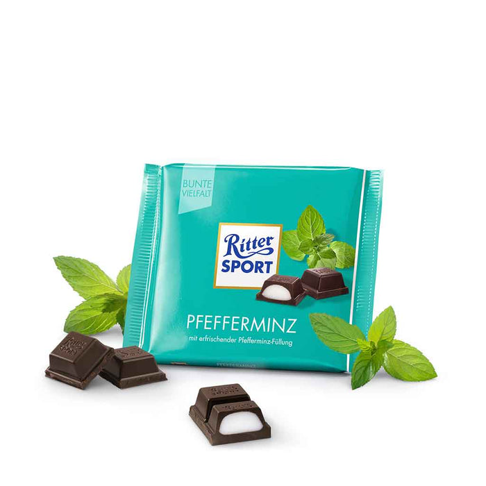 Ritter Sport Milk Chocolate with Peppermint, 3.5 oz (100 g)