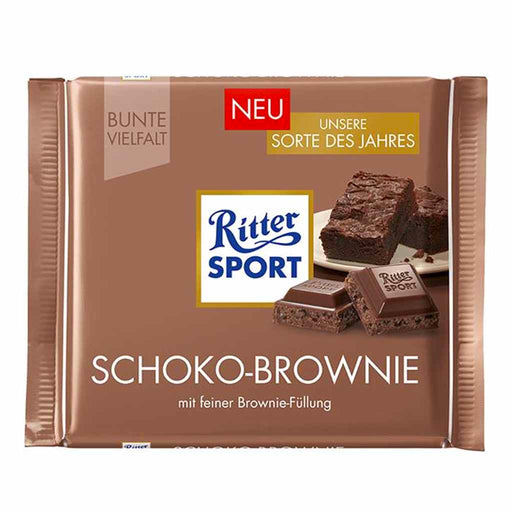 Ritter Sport Chocolate Brownie Milk Chocolate, 3.5 oz (100 g)