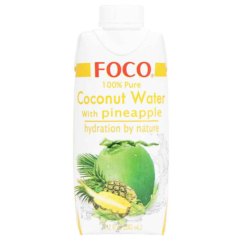 Foco 100% Pure Coconut Water with Pineapple 11.2 fl oz