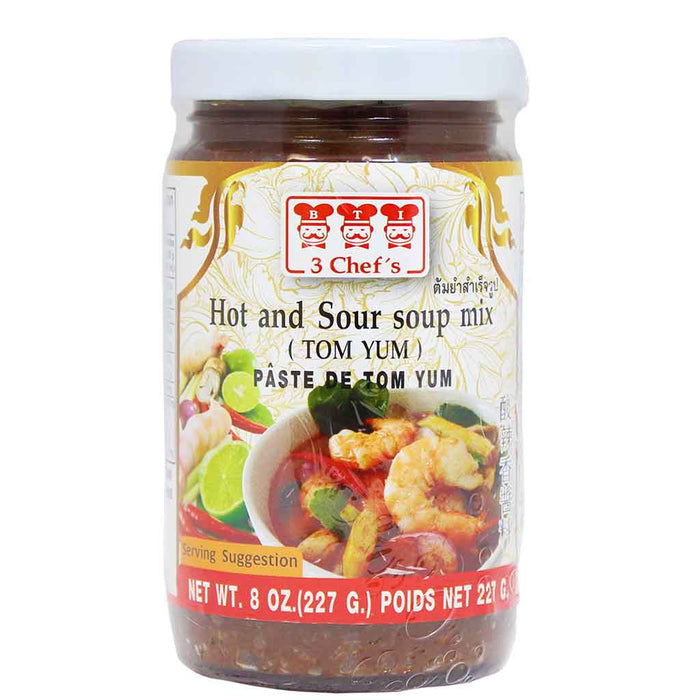 3 Chef's Tom Yum Hot and Sour Soup Mix 8 oz