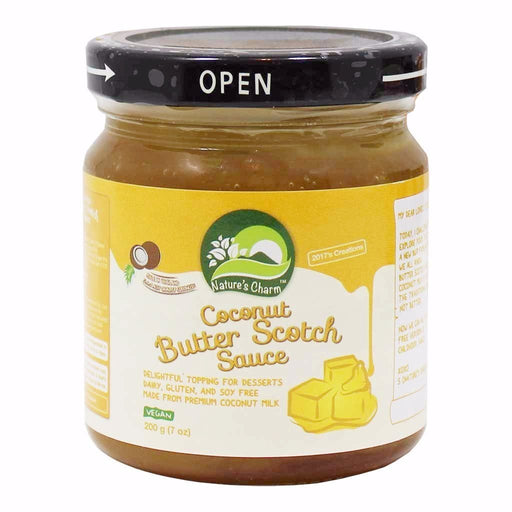 Nature's Charm Coconut Butter Scotch Sauce, Vegan 7 oz. (200g)
