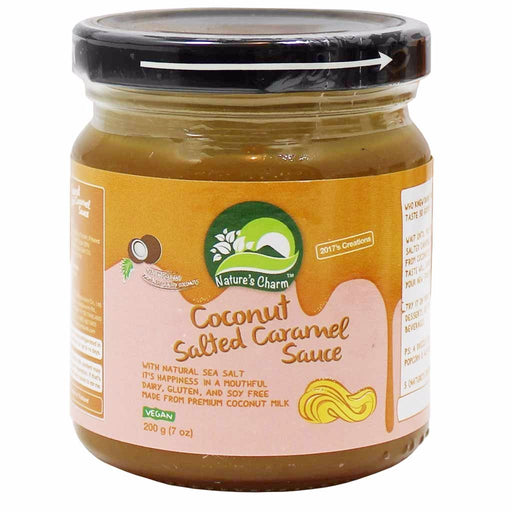 Nature's Charm Coconut Salted Caramel Sauce, Vegan 7 oz. (200g)