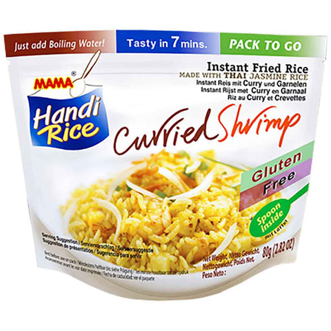 Mama Handi Instant Fried Rice with Curried Shrimp 2.8 oz. (80g)