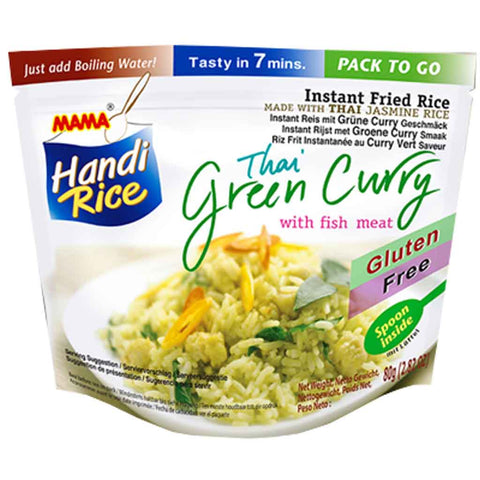 Mama Handi Instant Fried Rice Thai Green Curry with Fish 2.8 oz. (80g)