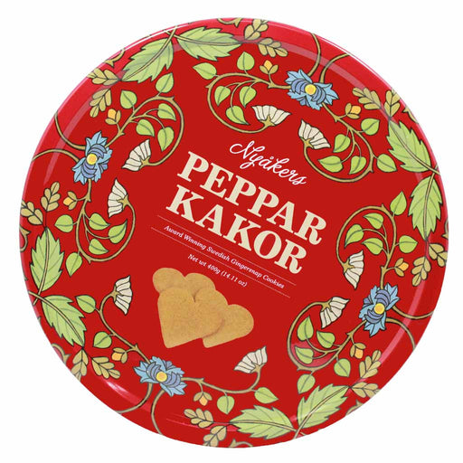 Nyakers Swedish Pepparkakor Gingersnap, Red Can, 14.1 oz