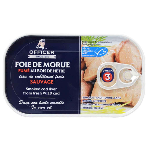 Cod Liver, Smoked, by Officer 4.2 oz.