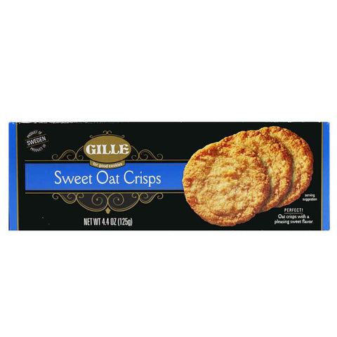 Swedish Sweet Oat Crisps by Gille 4.4 oz (125g)