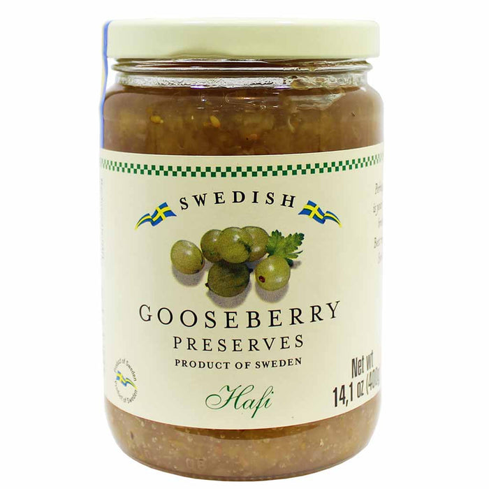 Hafi Swedish Gooseberry Preserve 14.1 oz. (400g)