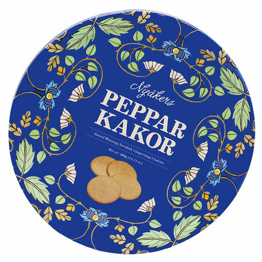 Nyakers Award Winning Pepparkakor Gingersnap, Blue Can, 14.1 oz. (400g)