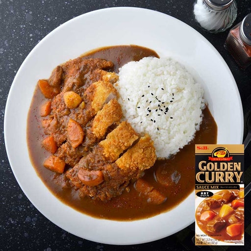 S&B Golden Curry Hot Japanese Curry, 3.2 oz (92 g)