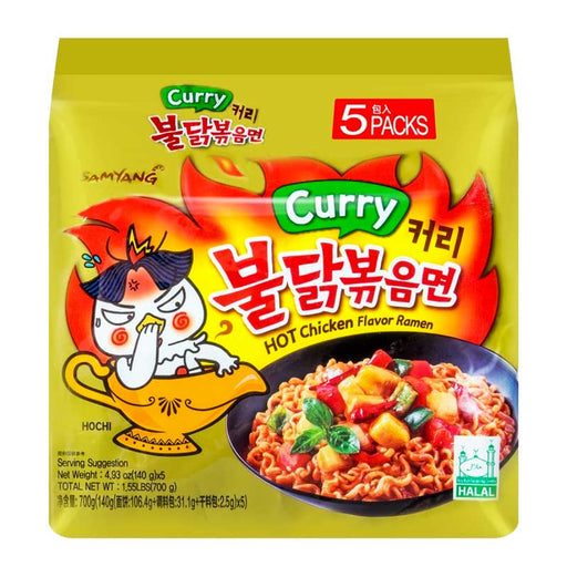 5-Pack Samyang Spicy Chicken Curry Ramen, 4.9 oz. x 5