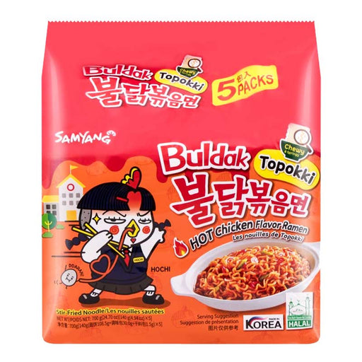 5-Pack Samyang Topokki Style Hot Chicken Noodles, 5 x 4.9 oz
