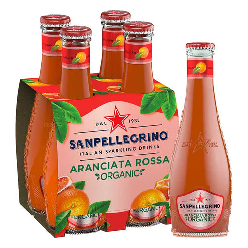 San Pellegrino Organic Blood Orange Sparkling Beverage, 4 x 6.75 fl oz (200mL)