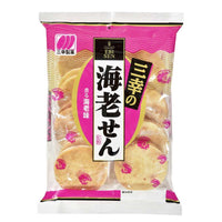 Japanese Rice Crackers Shrimp Flavor Senbei by Sanko, 3.8 oz (107 g)