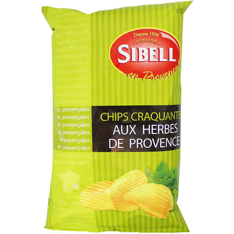 Sibell Rippled Herbs de Provence Potato Chips 4.2 oz. (120 g)