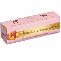 Dalecarlian Swedish Milk Chocolate Horses with Polkamint 3.5 oz. (100g)