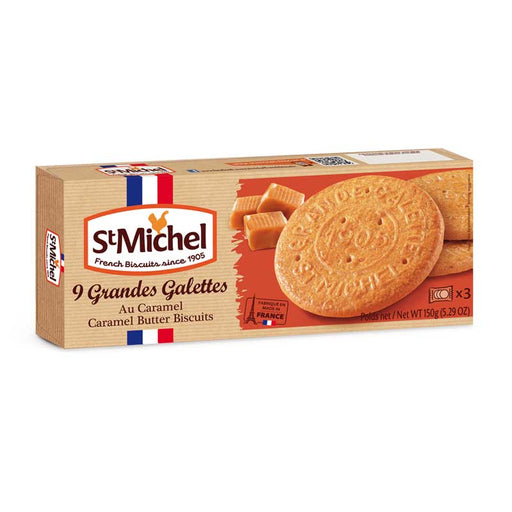 St. Michel Galettes Caramel Butter Cookies 5.2 oz. (150g)