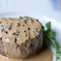 French Steak au Poivre with Mashed Potatoes (Serves 4)
