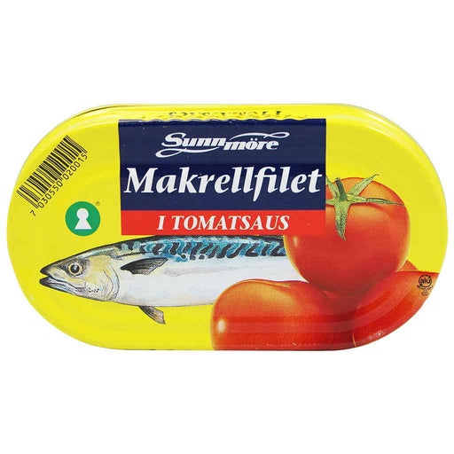Norwegian Mackerel in Tomato Sauce by Sunmore, 6 oz. (170 g)