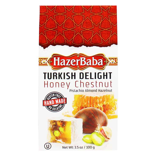 Hazer Baba Honey Chestnut Turkish Delight 3.5 oz. (100g)