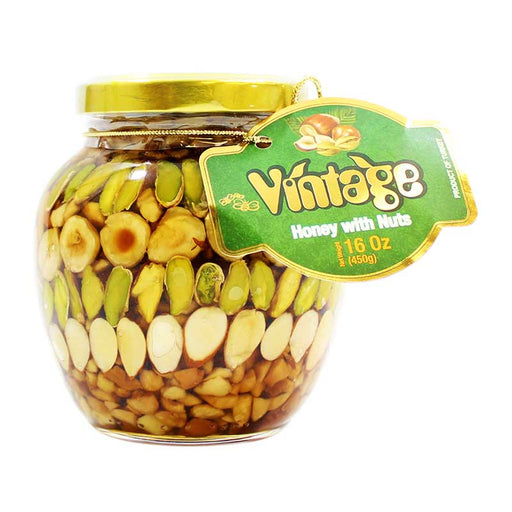 Honey with Nuts by Vintage, 16 oz (450 g)