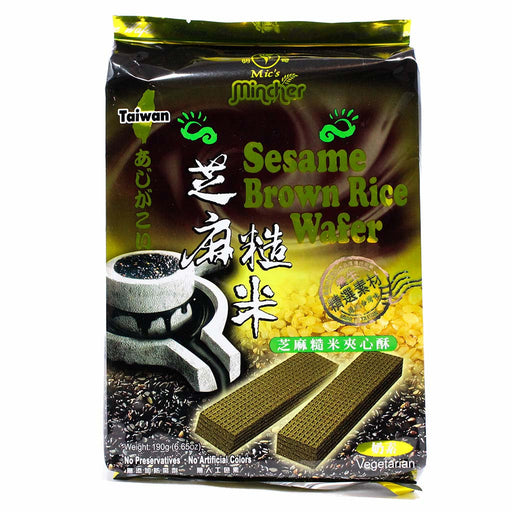 Sesame Brown Rice Wafer by Mincher 6.6 oz