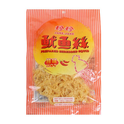 Taiwanese Spicy Dried Squid Snack by Jane Jane , 3 oz (85 g)