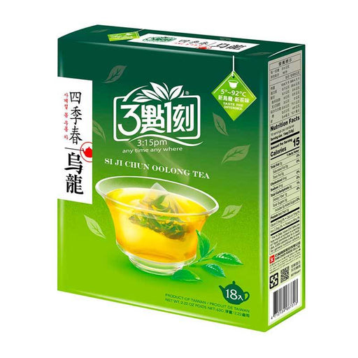 Four Seasons Oolong Tea Bags, Si Ji Chun Variety from Taiwan by 3:15 PM Tea, 6 Bags - 0.7 oz. (21g)