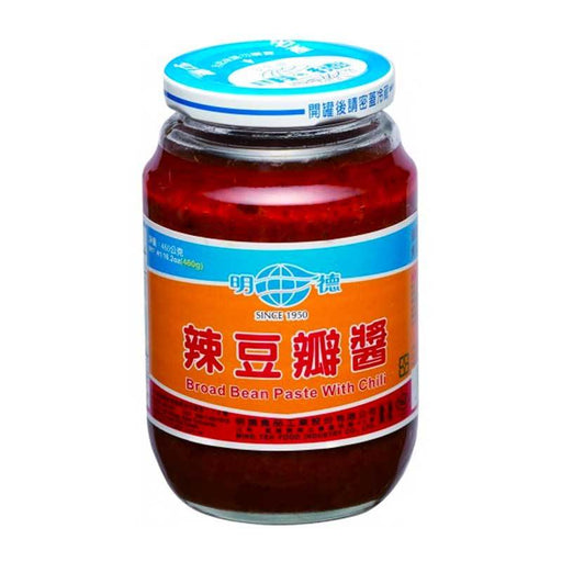 Ming Teh Doubanjian Broad Bean Paste with Chili from Taiwan, 16.2 oz. (460g)