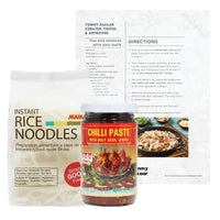 Thai Rice Noodles with Chili Paste (Serves 4)
